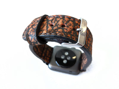 38/40mm Apple Watch Band - Cognac Elephant - Anvil Customs