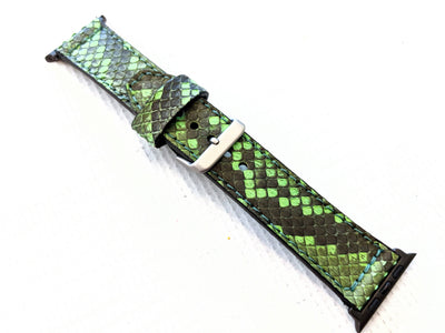 42/44mm Apple Watch Band - Zombie Green Python - Anvil Customs