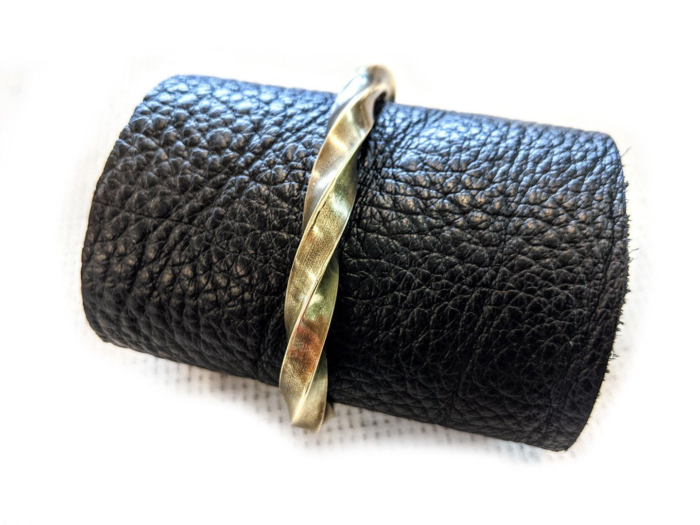 Anvil Cuff/Bangle No.57 - Twisted Brass