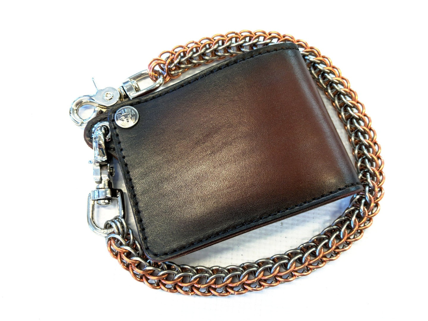 Bifold Leather Chain Wallet - Gen 3 - Anvil Customs