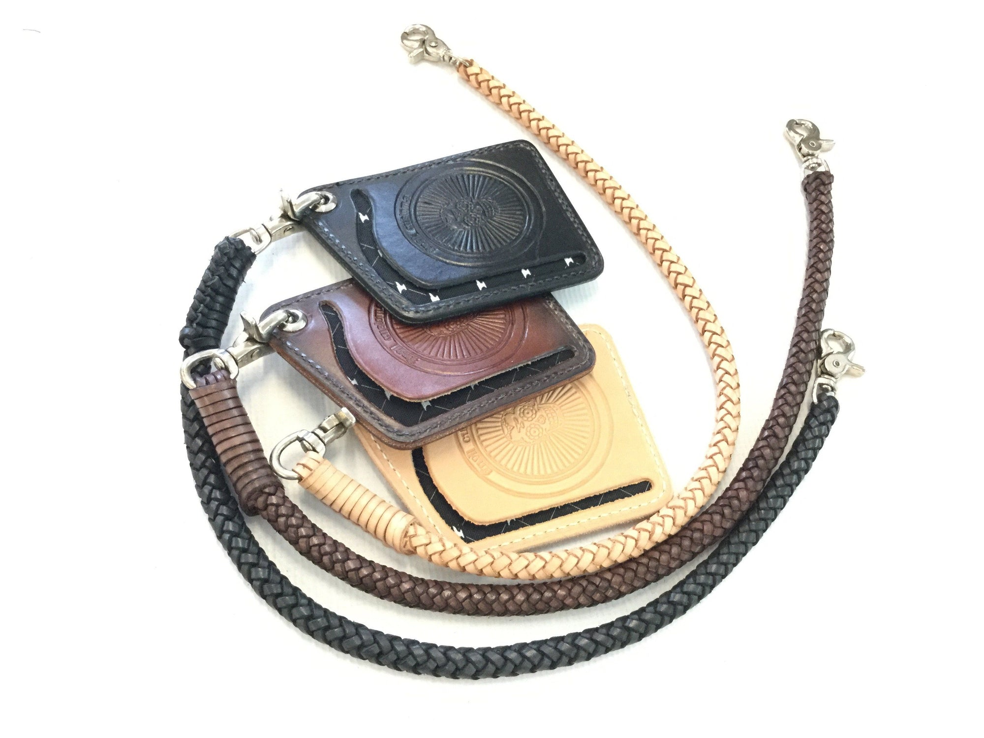 Braided Leather Wallet Chain - Anvil Customs
