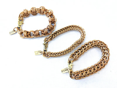 Brass Chain Mail Bracelet - Anvil Customs