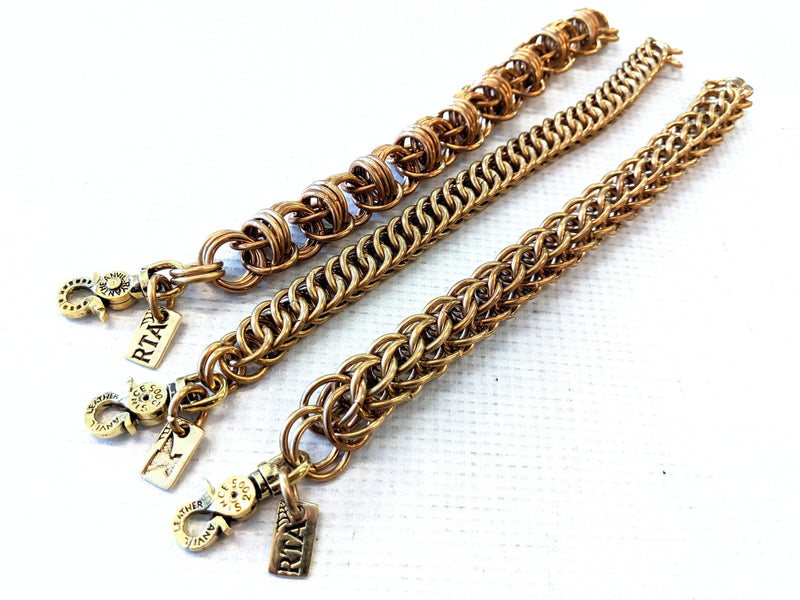 Brass Chain Mail Bracelet