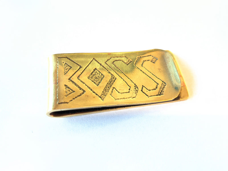 Brass Money Clip - RTA Engraved