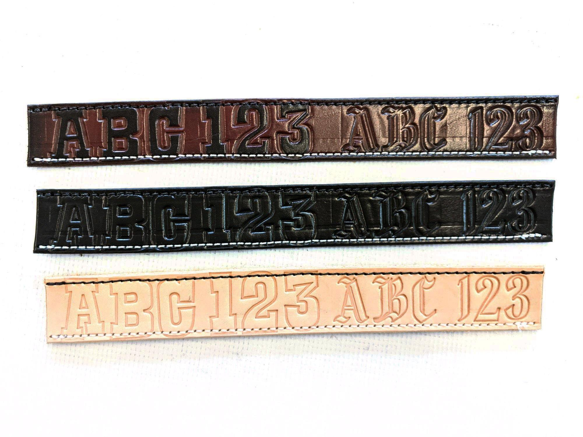 Build Your Own Leather Belt - Personalized Text - Anvil Customs