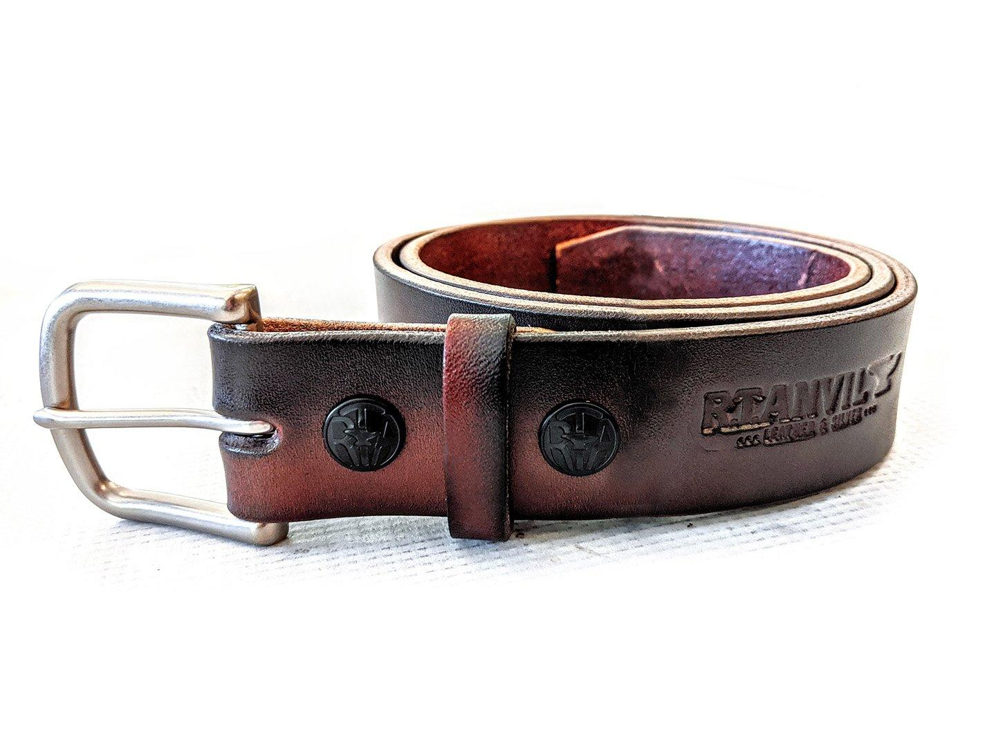 Custom Leather Belt - Classic Gents Belt - Anvil Customs