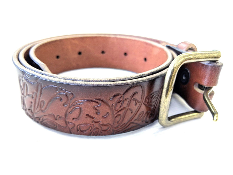 Custom Leather Belt - Life & Death