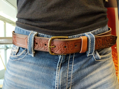 Custom Leather Belt - We The People - Anvil Customs
