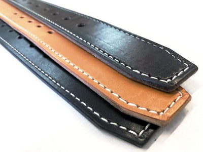 Custom Leather Belt with Contrast Stitching - Anvil Customs