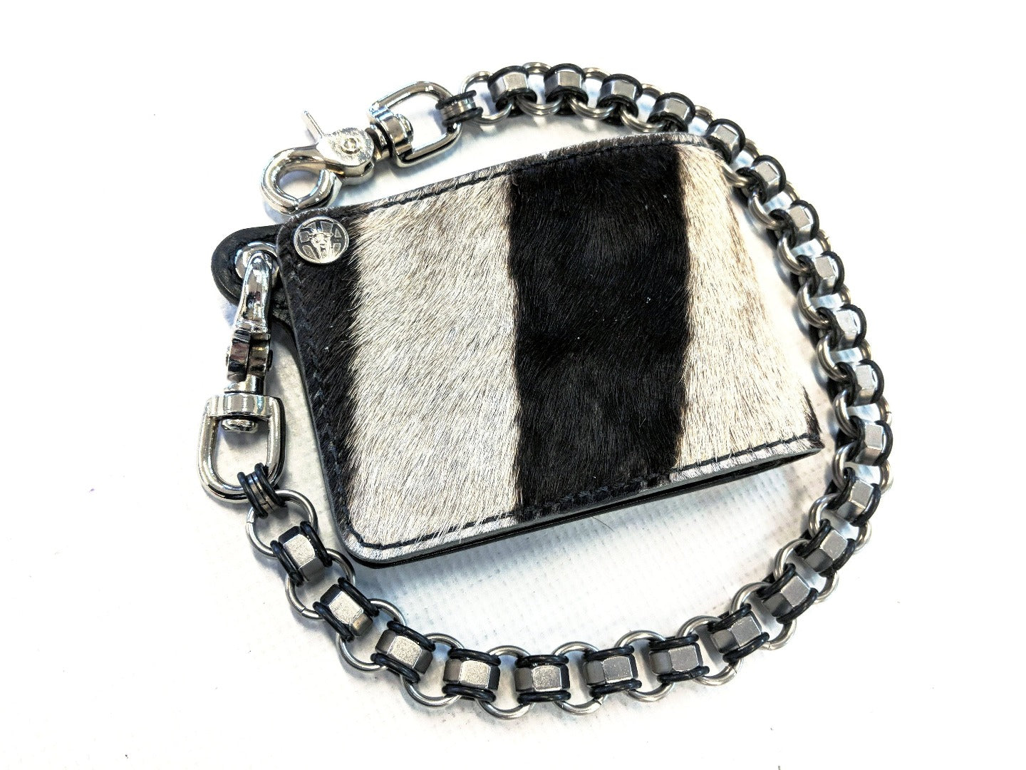 Genuine Zebra Leather Chain Wallets - Anvil Customs