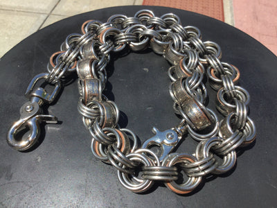 Goliath Half Dollar Chain Mail Wallet Chains - Anvil Customs