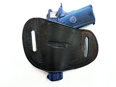 Gun Holster - Black Alligator with Black Stitch - Anvil Customs