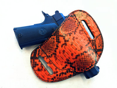 Gun Holster - Hunter Orange Python - Anvil Customs