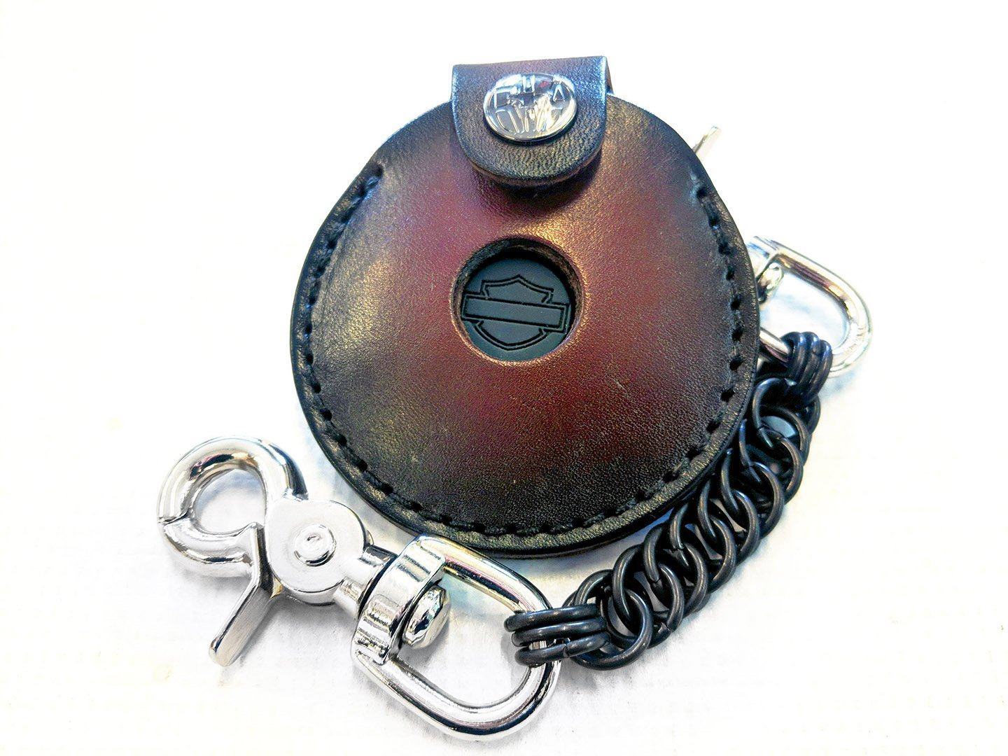 Harley-Davidson Alarm Remote Key Leather Fob - Anvil Customs