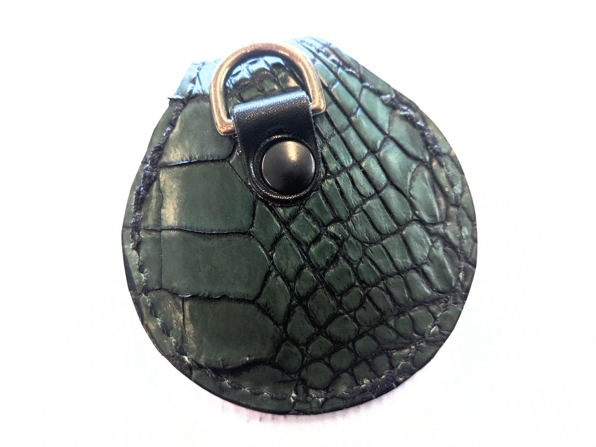 Harley-Davidson Remote Alarm Key Fob - Forest Green Alligator - Anvil Customs