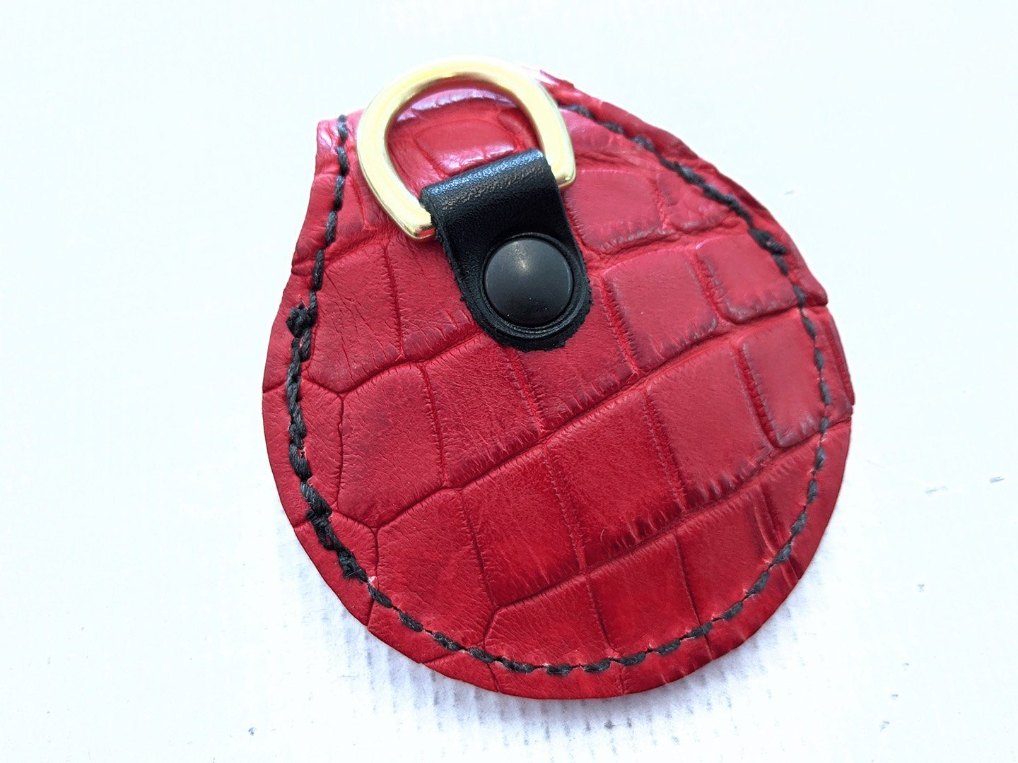 Harley-Davidson Remote Alarm Key Fob - Red Alligator - Anvil Customs