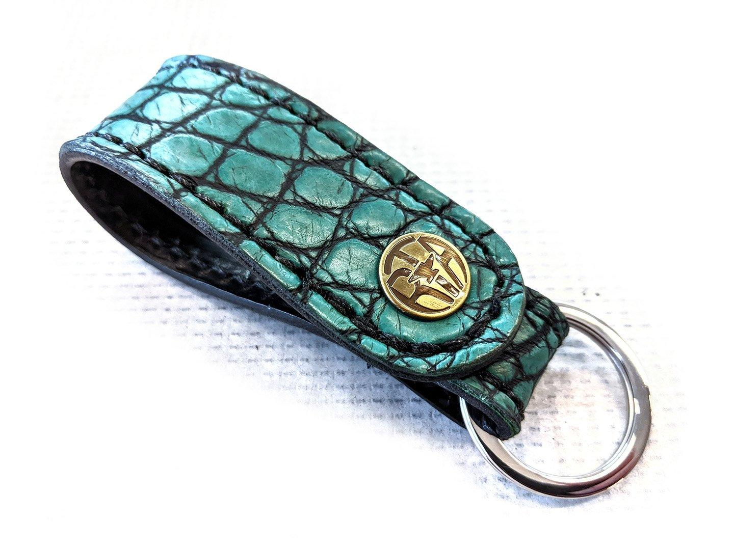 Leather Loop - Antique Kelly Green Alligator