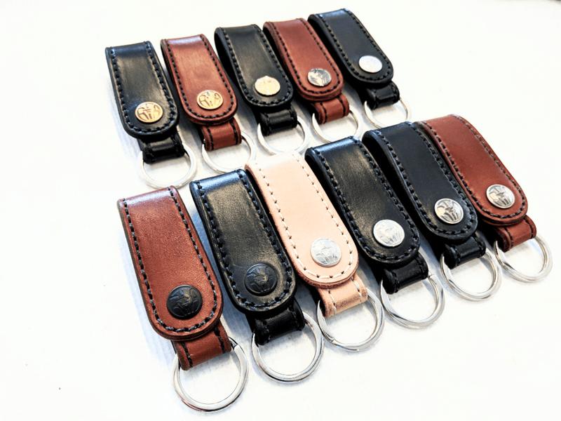 Leather Loop Belt Attachment Fob