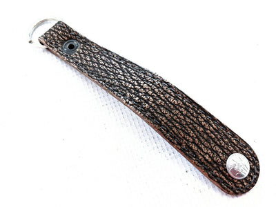 Leather Loop - Dark Brown Shark - Anvil Customs