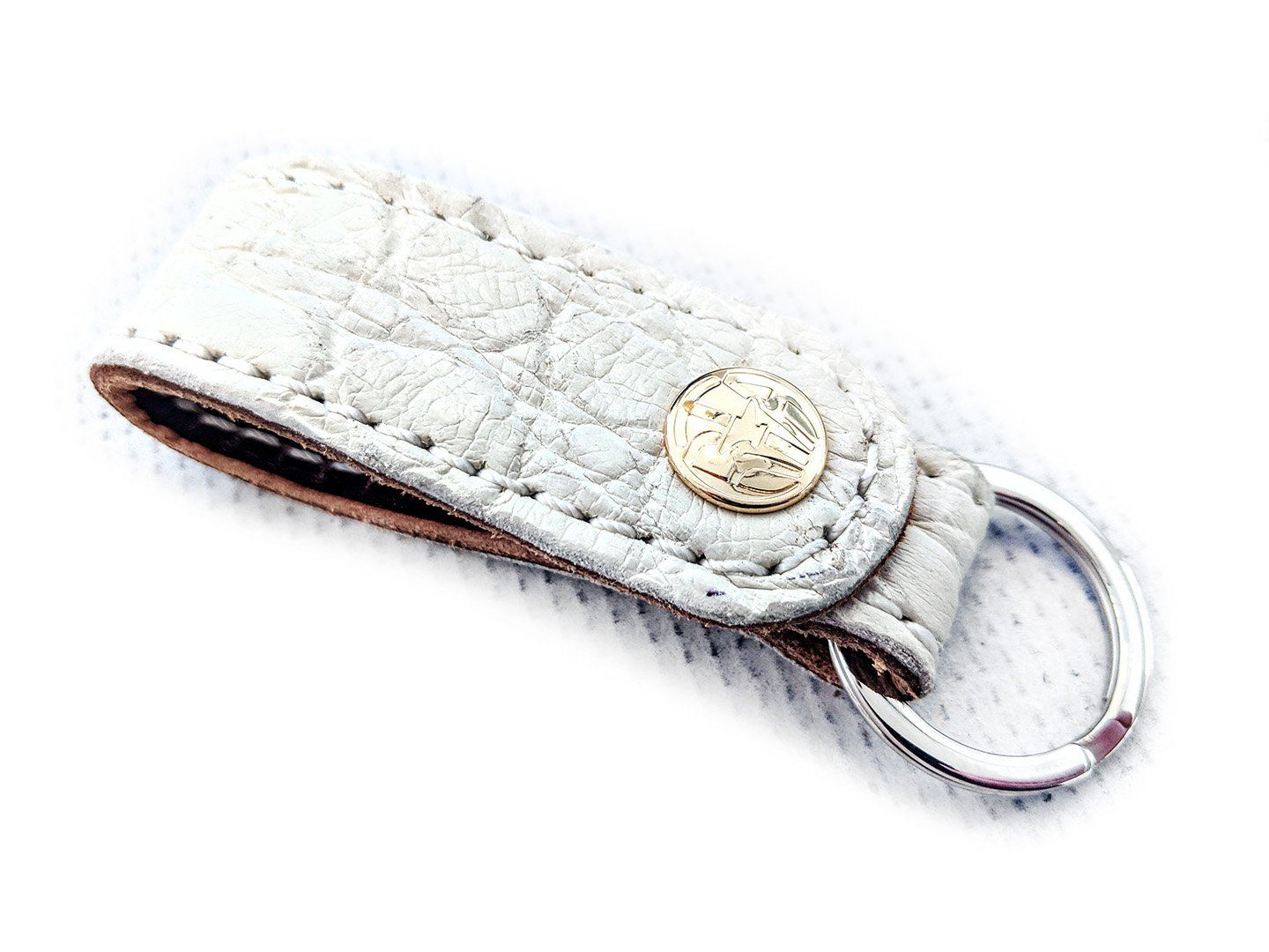 Leather Loop -  White Alligator