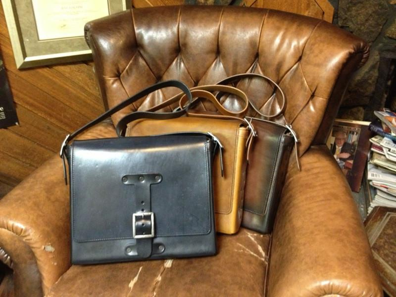 Leather Messenger Bag - Anvil Customs