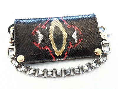 Long Biker Chain Wallet - Damballa Python - Anvil Customs