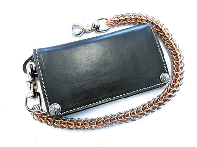 Long Biker Leather Chain Wallet - Gen 3