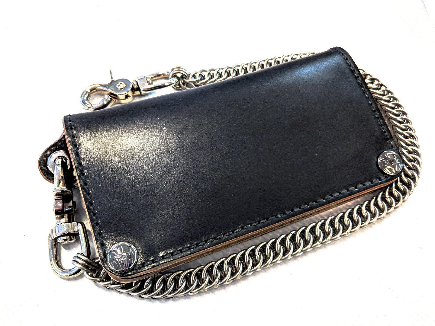 Long Biker Leather Chain Wallet - Gen 3 - Anvil Customs