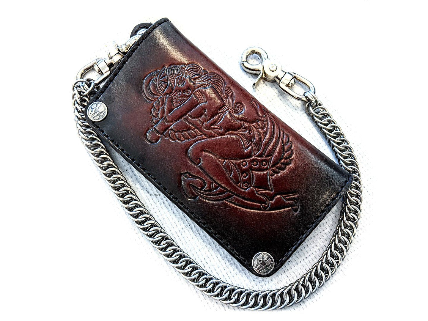 Long Biker Leather Chain Wallet - Pin Up Sailor