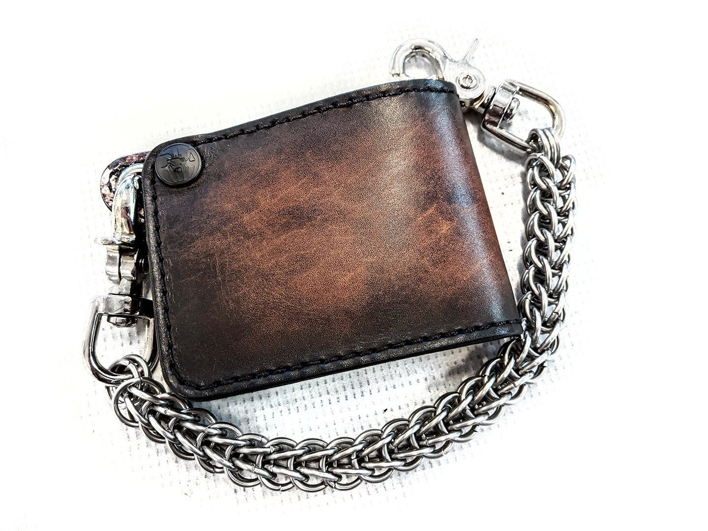 Mini Bifold - Dirtied Vintage Brown Cowhide