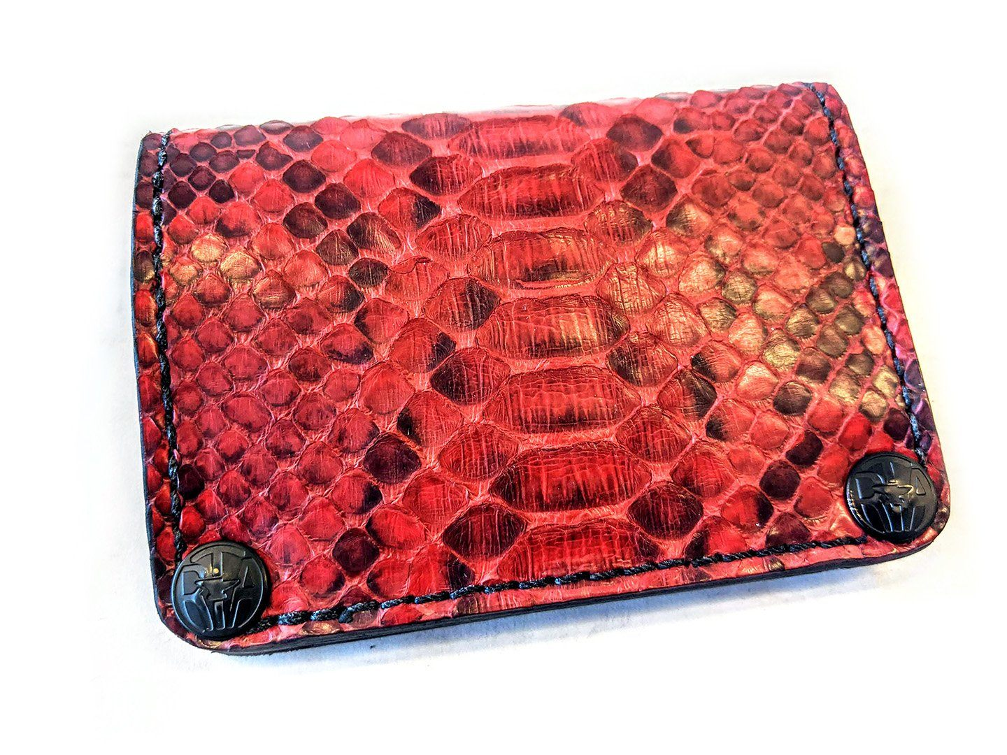 Mini Long Wallet - Red Python