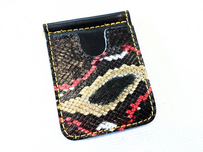 Money Clip Wallet - Damballa Python with Gold Stitch - Anvil Customs
