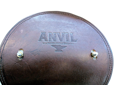 Motorcycle / Chopper Solo Spring Seat - Vintage Elephant and Black Alligator - Anvil Customs
