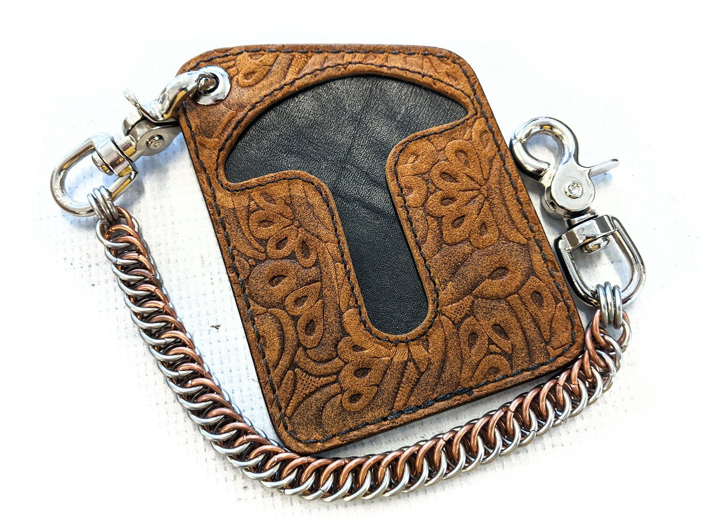Puritan Chain Wallet -Mariposa Cowhide