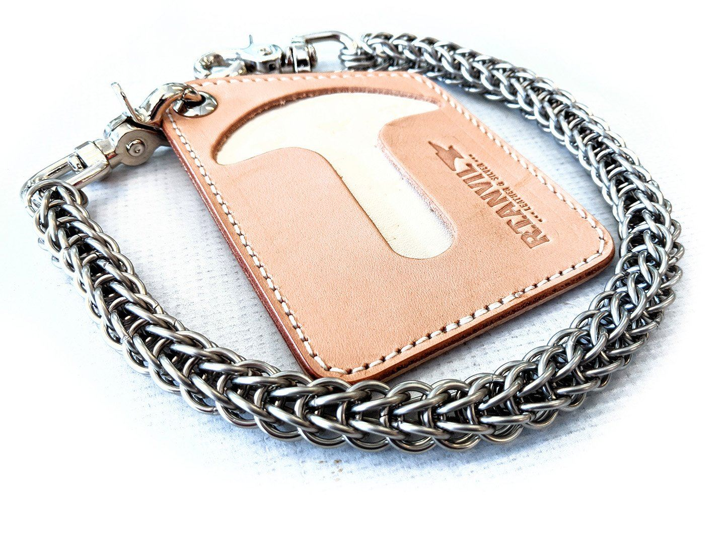 Puritan Chain Wallet - Natural Cowhide