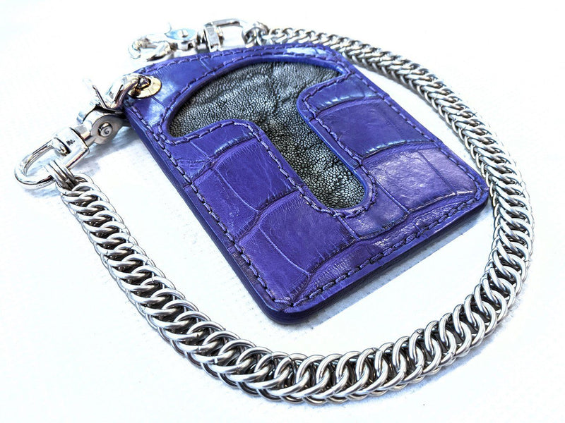 Puritan Chain Wallet - Purp Alligator