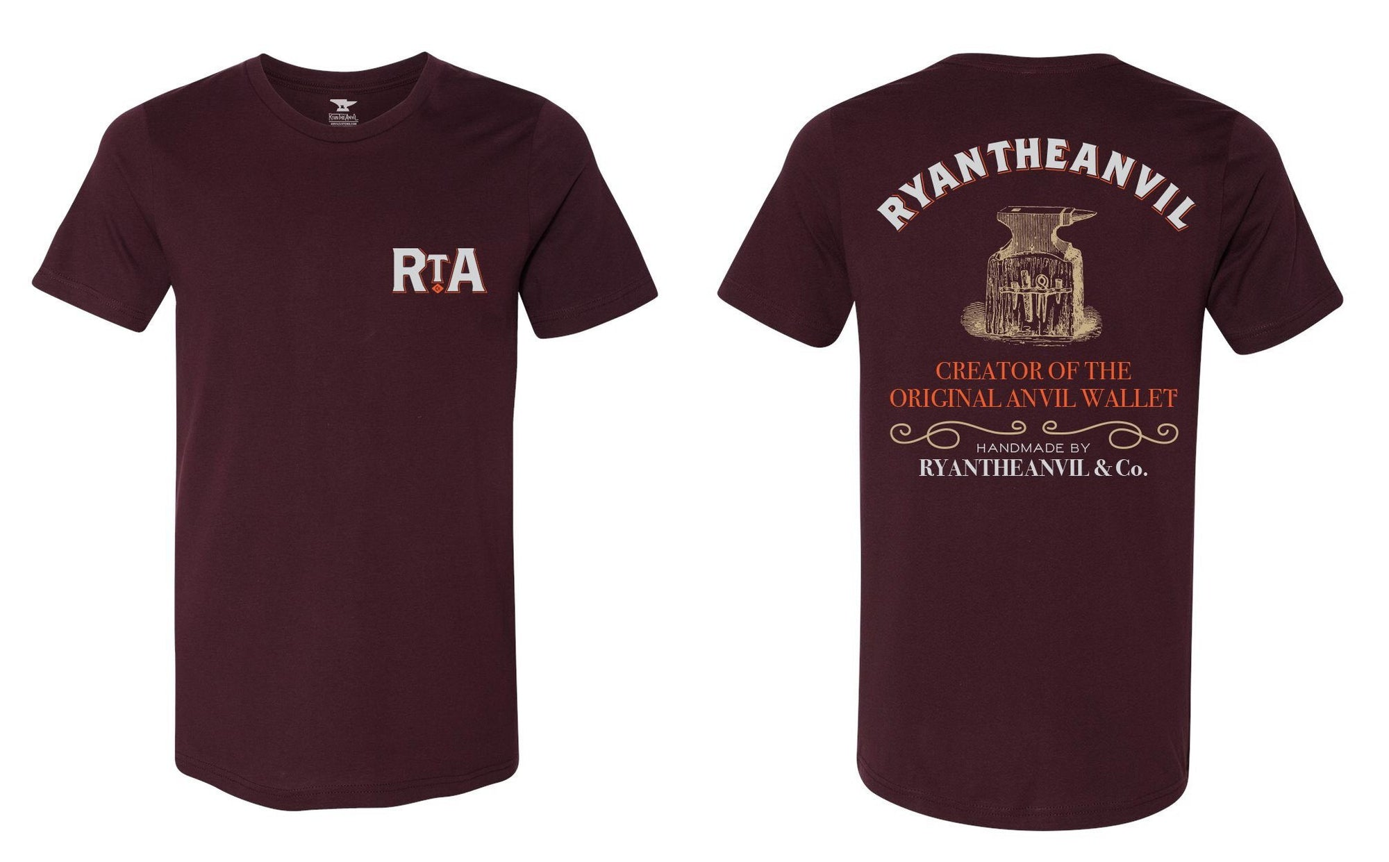 RyanTheAnvil Oxblood Red T-Shirt - Anvil Customs