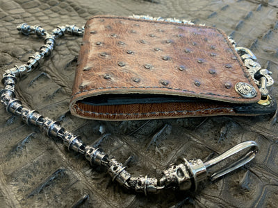 RyanTheAnvil TopHat Skull .925 Silver Wallet Chain - Anvil Customs