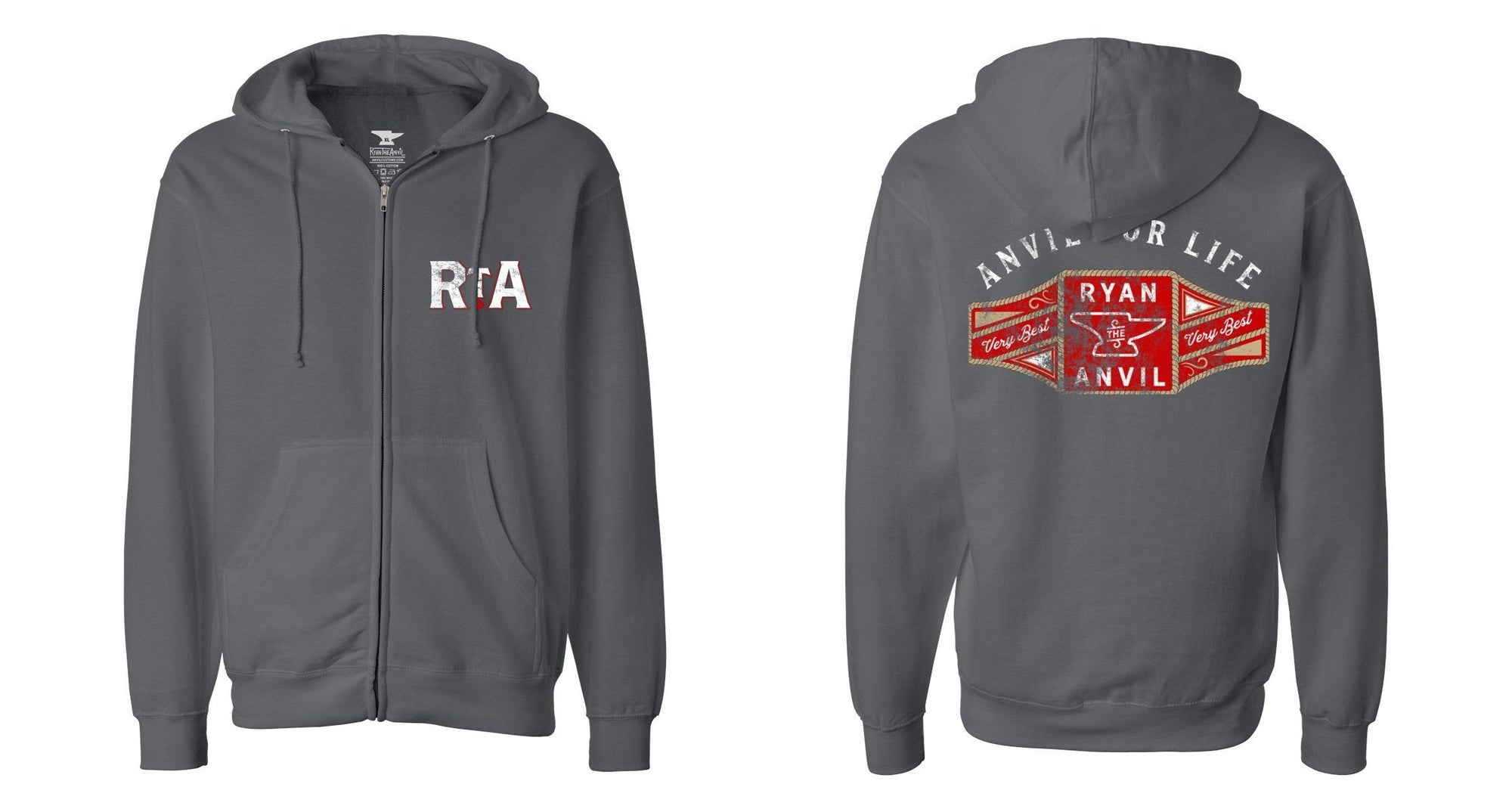 RyanTheAnvil Zip-Up Hoodie - Anvil Customs