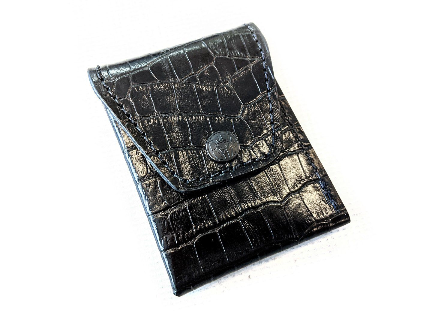Sarasota Wallet - Black Alligator - Anvil Customs