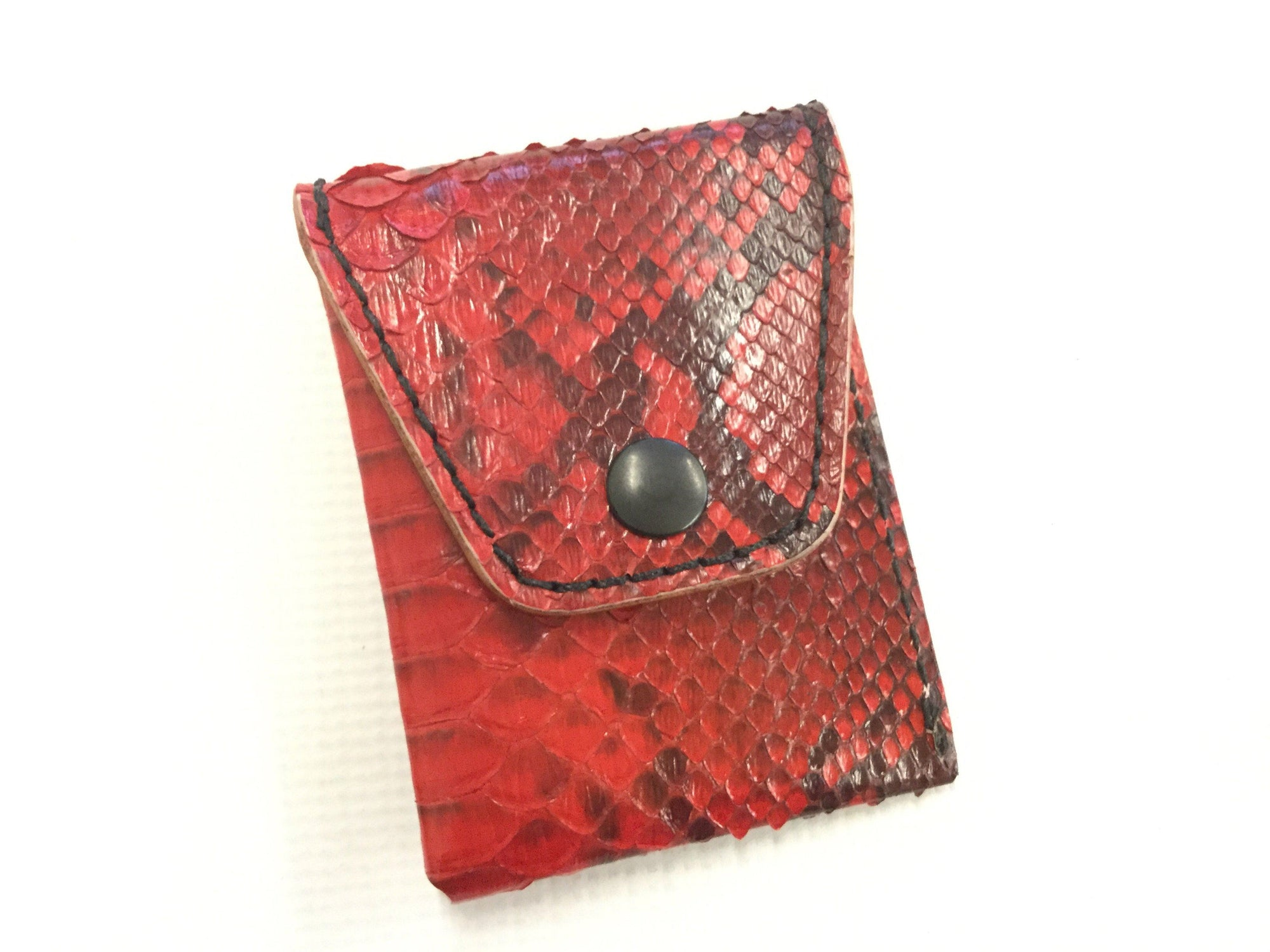 Sarasota Wallet - Hot Rod Red Python - Anvil Customs