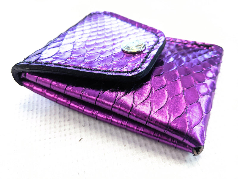 Sarasota Wallet - Metallic Purple Python - Anvil Customs