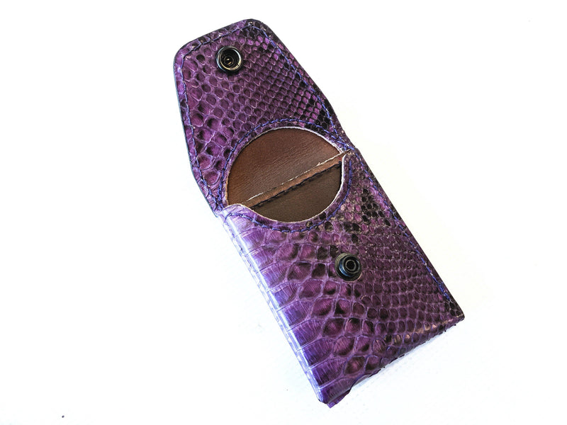 Sarasota Wallet - Vintage Purple Python - Anvil Customs