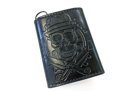 Trifold Leather Chain Wallet - Anvil Customs