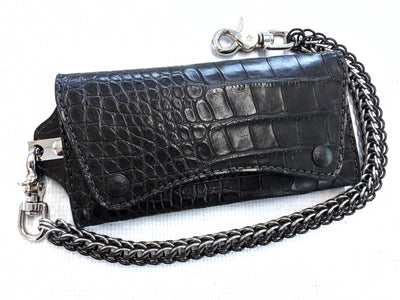 Trucker Trifold - Black Alligator - Anvil Customs