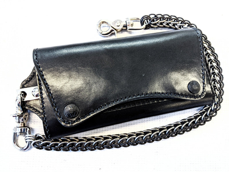 Trucker Trifold Leather Chain Wallet - Anvil Customs