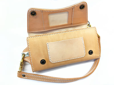 Trucker Trifold - Natural Leather - Anvil Customs