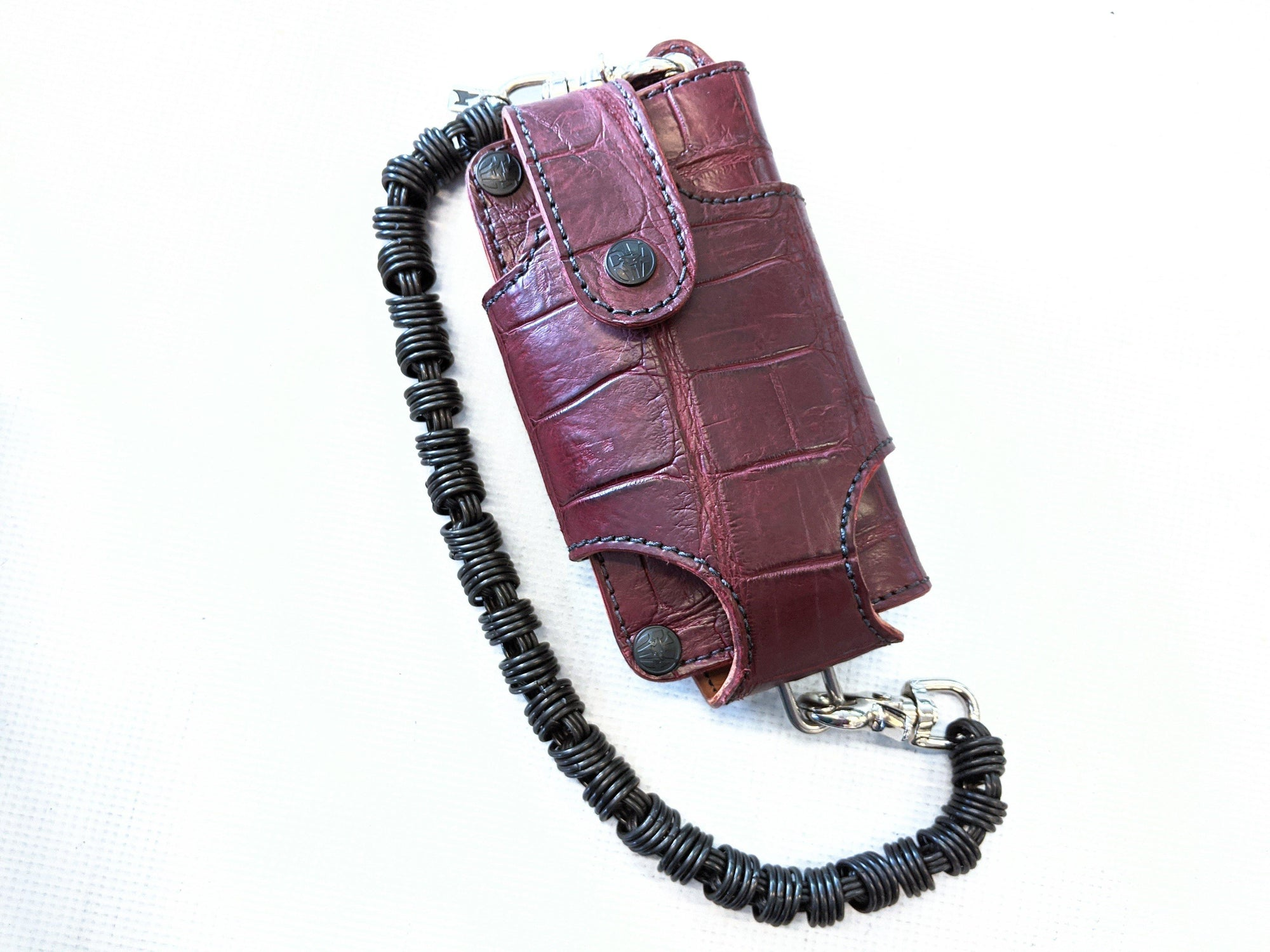 Wallet Holster Collection - Burgundy Alligator - Anvil Customs
