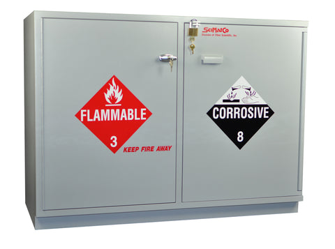 SC2248 Under-the-Counter, Combination Acid/Flammables Cabinet, Fully Lined, 47""