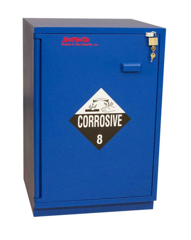 "SC1424 Under-the-Counter, Corrosive Cabinet, Partially Lined, 23"", Left Hinge, Blue"